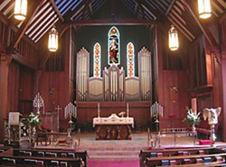 Christ Church Episcopal's pretty, big, new pipe organ. Photo courtesy Kegg Organs.