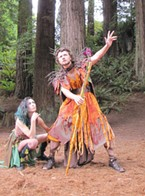 Chyna Leigh as Robin Goodfellow and Kenneth Wigley as Oberon in A Midsummer Night's Dream.