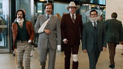 Clearly something escalated quickly in ANCHORMAN 2: THE LEGEND CONTINUESFine Burgundy