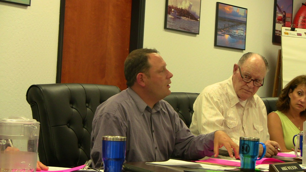 Commissioner Mike Wilson explains the realities of the bay District's fiscal situtation - BY JOHN OSBORN