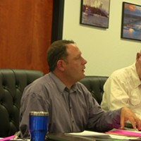 Commissioner Mike Wilson explains the realities of the bay District's fiscal situtation