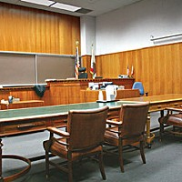 The Notebook of Alternate Juror No. 4 Courtroom, Humboldt County Courthouse. Photo by Bob Doran