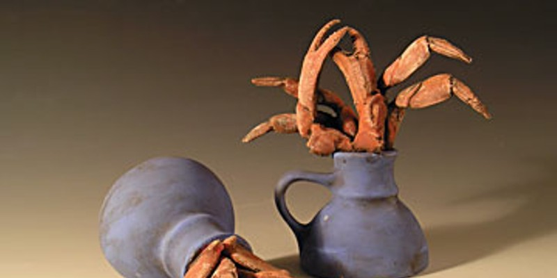 Pollution as Art Crab Cups, 2007, low fire white clay. Photo courtesy of Jimmie Nord,