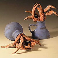 Crab Cups, 2007, low fire white clay. Photo courtesy of Jimmie Nord,