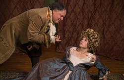 PHOTO BY AESTHETIC DESIGN AND PHOTOGRAPHY - Craig Benson as Antonio Salieri and Kyra Gardner as Constanze Weber in Ferndale Rep's Amadeus
