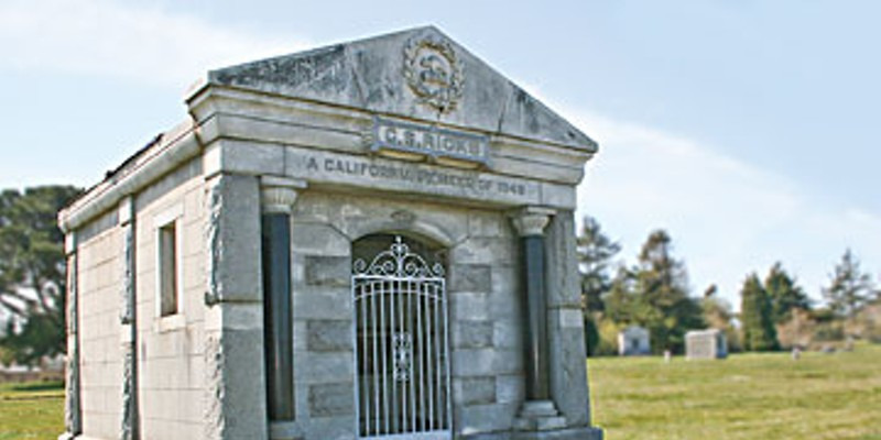 After You're Dead C.S. Ricks' mausoleum at Myrtle Grove Cemetery in Eureka. Photo by Bob Doran.