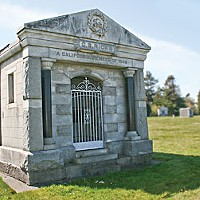 C.S. Ricks' mausoleum at Myrtle Grove Cemetery in Eureka. Photo by Bob Doran.