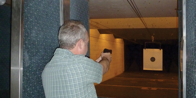 At the Shooting Range Customers use the gun range at Old West Shootery and Supply to hone their skills and qualify for concealed carry permits. photo by ryan burns