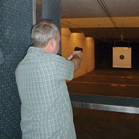 Customers use the gun range at Old West Shootery and Supply to hone their skills and qualify for concealed carry permits.
