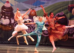 PHOTOS COURTESY OF NORTH COAST DANCE - dancers Iris Van Atta, Elizabeth Poston and Briana Carinta