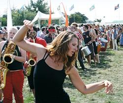 PHOTO BY BOB DORAN - Dancing to the music.