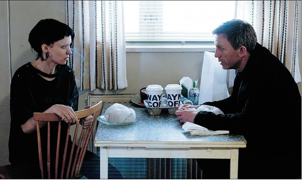 Daniel Craig and Rooney Mara in Tattoo