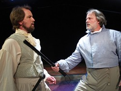 PHOTO COURTESY NORTH COAST REPERTORY - Danny Stockwell as Valjean, Craig Benson as Javert.