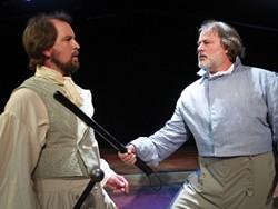 PHOTO COURTESY NORTH COAST REPERTORY - Danny Stockwell as Valjean, Craig Benson as Javert.