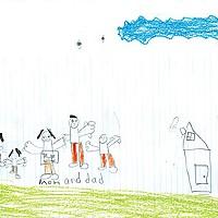 Viaje a la Noche Dibujos por los niños de Alejandro. Foto por Yulia Weeks.