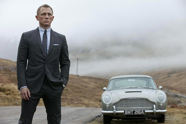 Digging out change for the meter - Daniel Craig as Bond, James Bond