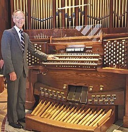 COURTESY OF CHRIST EPISCOPAL CHURCH - Doug Moorehead with Kegg organ