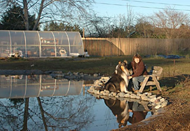 Dow's Prairie artist Susan Fox with her collie, Niki