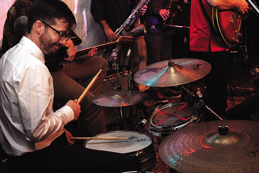 Drummer Pete Ciotti, owner of the Jambalaya and Big Pete's Pizza, celebrated his birthday Friday playing with the funk band Motherlode at Humboldt Brews. This weekend he's spearheading a benefit called Increase the Peace.