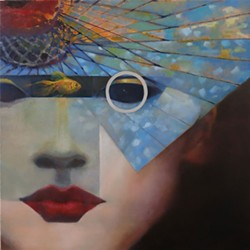 "COURTESY OF SEWELL GALLERY - Dyson-Flatmo's dreamy and dramatic ""The Muse is Always a Stranger."""