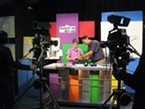 Educators Pam Halstead and Kevin Yokoyama in the KEET Studios