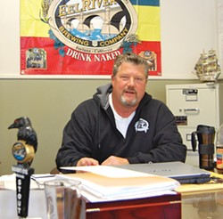 PHOTO BY ANDREW GOFF - Eel River co-owner Ted Vivatson in his Scotia office.