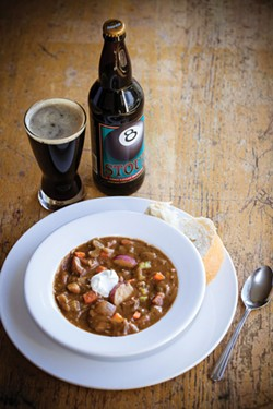 PHOTO BY AMY KUMLER - Eight-Ball Stout beef stew from Lost coast brewery.