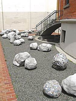 """Encased in Concrete 88"" by Monica Schill at the Morris Graves Museum of Art."