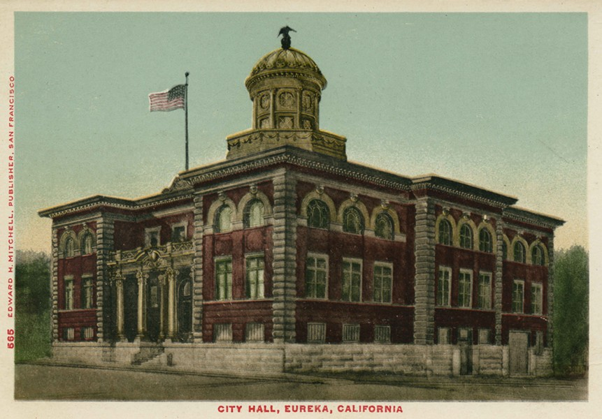 Eureka City Hall - POSTCARD FROM THE HUMBOLDT PROJECT COLLECTION OF STEVEN LAZAR