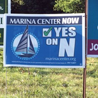 Eureka lawn signs entreat a vote for measure N.