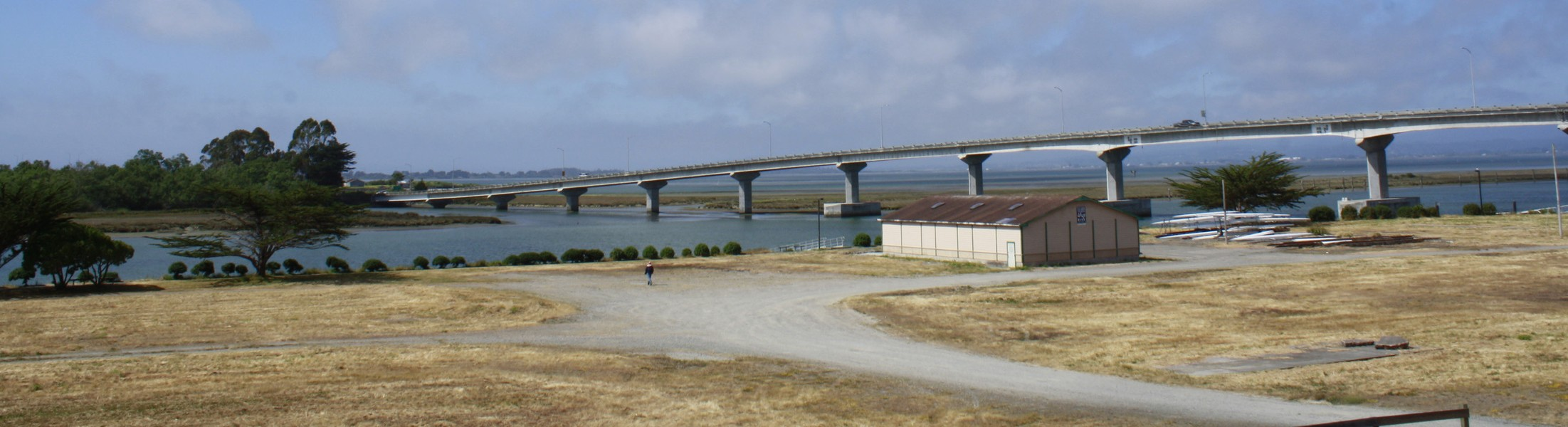 Eureka waterfront, Samoa Bridge and Humboldt Bay Rowing Association Building - PHOTO BY ZACH ST. GEORGE