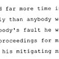 Nobody's Fault Excerpt from court transcript quoting David Lee.