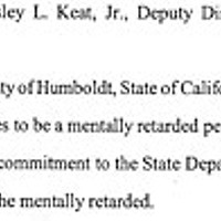 Nobody's Fault Excerpt from court transcript quoting Wes Keat.