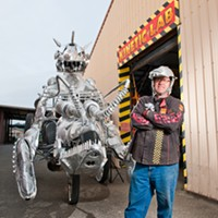 Flatmo has updated his lobster, complete with fire-breathing demon, for this year's Kinetic Grand Championship.