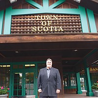 Reinventing Scotia Frank Bacik, Town of Scotia President and Director of Legal Affairs. Photo by Ryan Burns