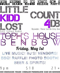 Friday, May 1st @ Toph's House in Benbow