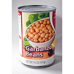 Garbanzo beans fresh from the can