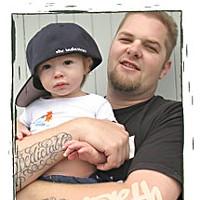 Humboldt Hip Hop Garth Culti-Vader and his son Taurean. Photo by Bob Doran.