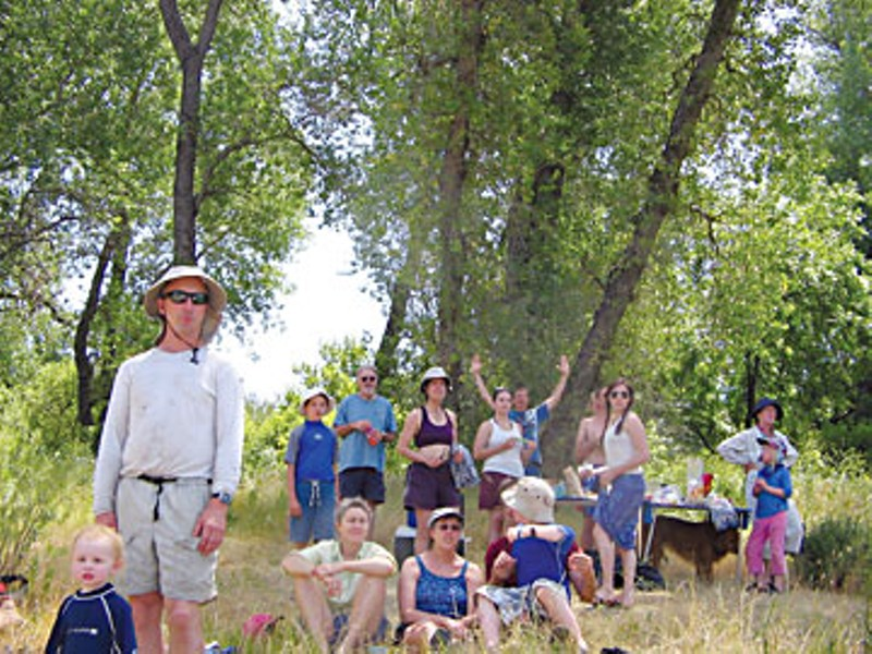 Generations of river-lovers on the banks of the placid Sacramento River.  Photo by Patrick Carr.