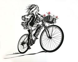 "ART BY ORR MARSHALL - ""Goth Girl Bike"""