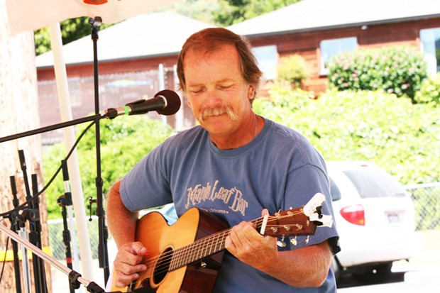 Guitarist Jeff Landen and Sounds Mo' Better play at noon at the Humboldt Folklife All Day Festival - PHOTO BY BOB DORAN