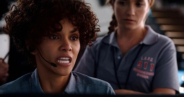 Halle Berry in The Call: Janet Jackson mic? Check. Whitney Houston hair? Check. Let's do this, people.