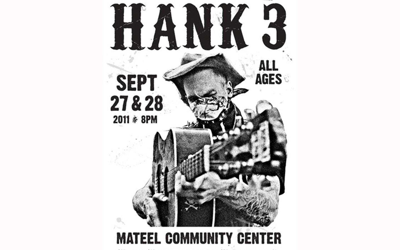 Hank3 - SHOW POSTER FROM DIAMONDBACK