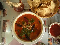 PHOTO BY JENNIFER FUMIKO CAHILL - Healing Menudo at Chapala Café.
