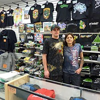 Humboldt: The Brand Humboldt Clothing Co. owners Rob Ensign and Angel Young. Photo by Ryan Burns.