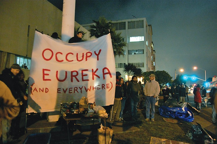 Humboldt occupy protests began in september. - PHOTO BY ANDREW GOFF