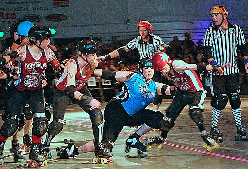 Caption this! - PHOTO COURTESY OF HUMBOLDT ROLLER DERBY