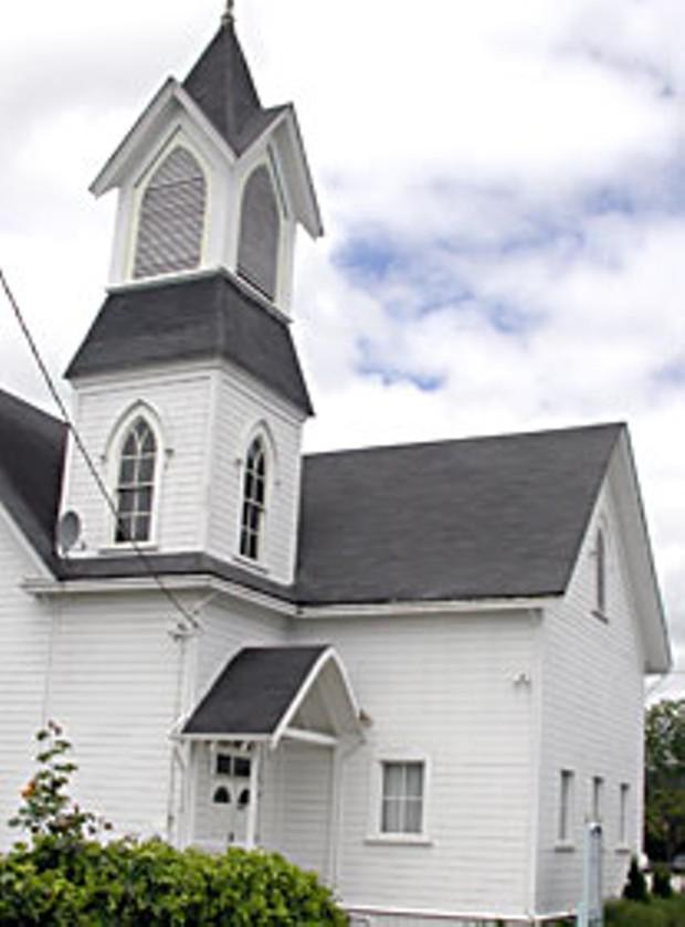 Hydesville Community Church. Photo by Heidi Walters.