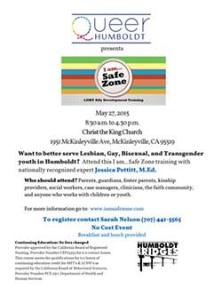 """""""I Am Safe Zone"""" LGBT Ally Development Training-Mckinleyville"""