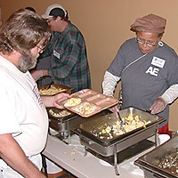 "Everyone Is Connected Ida Earl, a volunteer with Arcata Endeavor and a member of the organization's board, says feeding people makes her feel good. ""Nothing has as much of an impact as having a full belly,"" she says. Photo by David Lawlor"